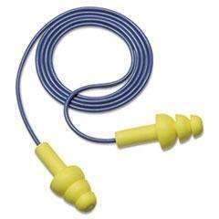3M™ E·A·R UltraFit Earplugs, Corded, Premolded, Yellow, 100 Pairs (11777693388)