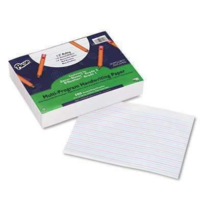 Janitorial SuperstorePACON CORPORATION Multi-Program Handwriting Paper, 1/2 Long Rule, 10-1/2 x 8, White, 500 Shts/Pk