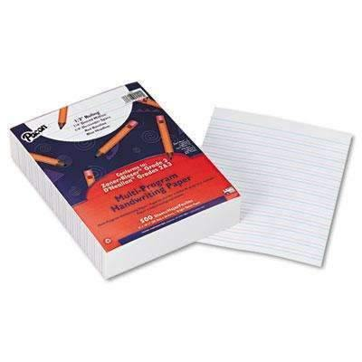 Janitorial SuperstorePACON CORPORATION Multi-Program Handwriting Paper, 1/2 Short Rule, 10-1/2 x 8, White, 500 Shts/Pk