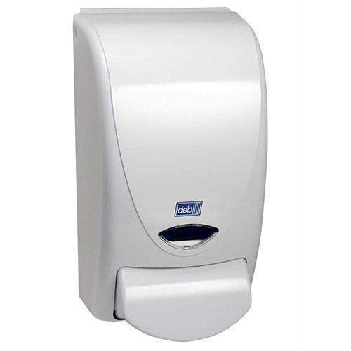 Deb Deb White Soap and Sanitizer Dispenser - Janitorial Superstore