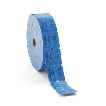 Janitorial SuperstorePM Company® Consecutively Numbered Double Ticket Roll, Blue, 2000 Tickets/Roll