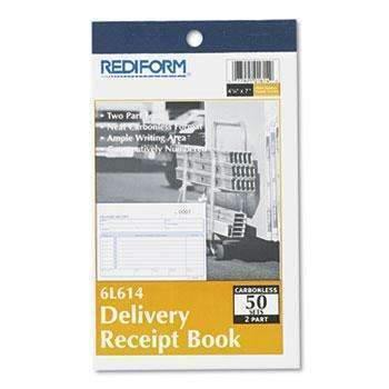 Janitorial SuperstoreRediform® Delivery Receipt Book, 6 3/8 x 4 1/4, Two-Part Carbonless, 50 Sets/Book