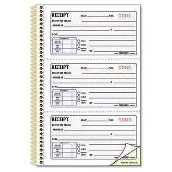 Janitorial SuperstoreRediform® Money Receipt Book, 2 3/4 x 5, Two-Part Carbonless, 225 Sets/Book