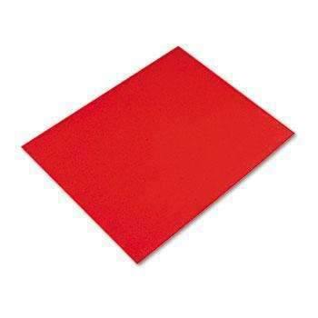 Janitorial SuperstorePacon® Colored Four-Ply rail Board, 28 x 22, Red, 25/Carton