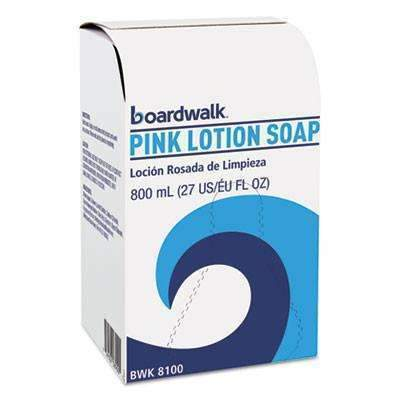 Boardwalk Mild Cleansing Pink Lotion Soap, Liquid, 800mL Box, 12/Carton