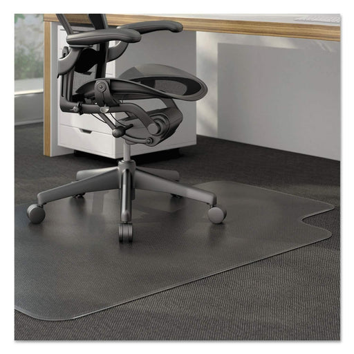 Janitorial SuperstoreModerate Use Studded Chair Mat for Low Pile Carpet, 36 x 48, Lipped, Clear