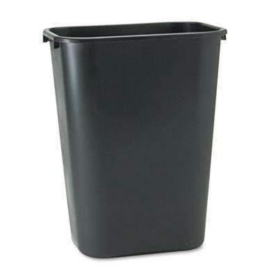 Janitorial SuperstoreDeskside Plastic Wastebasket, Rectangular, 10 gal, Black