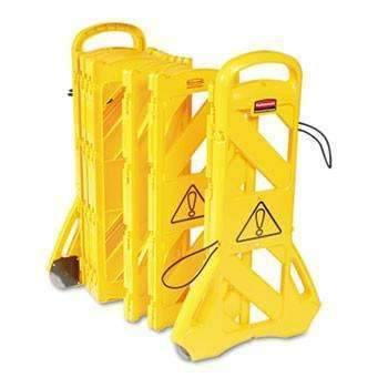 Janitorial SuperstoreRCP9S1100YEL - Portable Mobile Safety Barrier