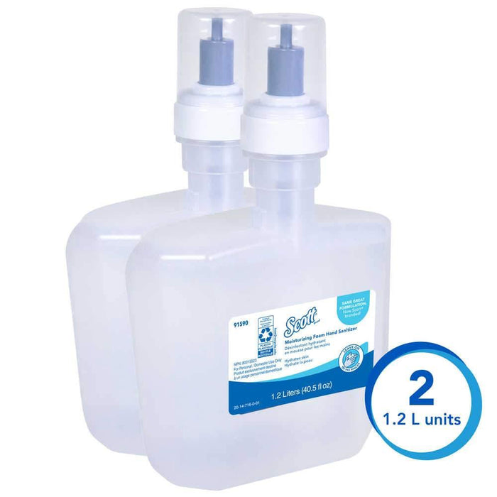 ScottScott® Pro Moisturizing Foam Hand Sanitizer 1.2 Liter, 2 Pack (91590)(Elite Program)