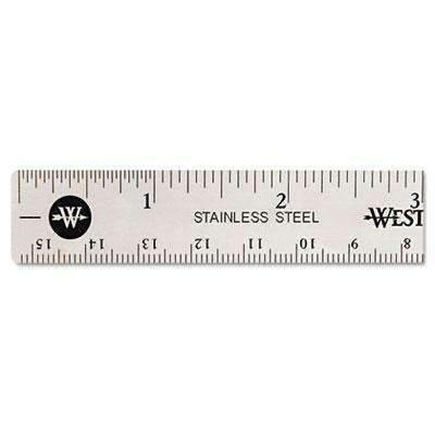 "Janitorial Superstore Westcott® Stainless Steel Office Ruler With Non Slip Cork Base, 6"" - Janitorial Superstore"