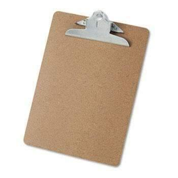 "Janitorial Superstore Universal® Hardboard Clipboard, 1"" Capacity, Holds 8 1/2 x 11, Brown - Janitorial Superstore"