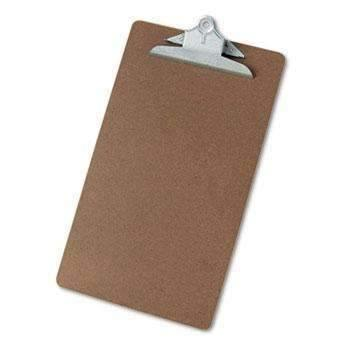 Janitorial SuperstoreUniversal® Hardboard Clipboard, 1 Capacity, Holds 8 1/2 x 14, Brown