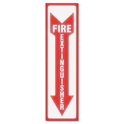 Janitorial SuperstoreHeadline® Sign Glow In The Dark Sign, 4 x 13, Red Glow, Fire Extinguisher
