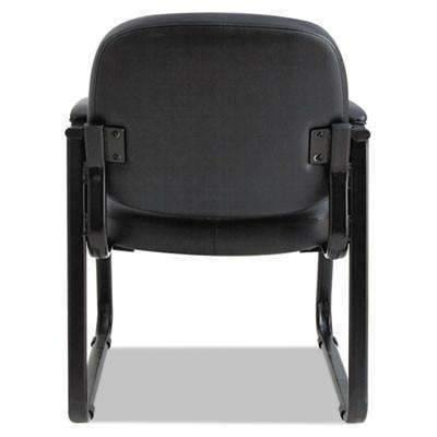 AleraAlera® Genaro Series Sled Base Guest Chair, Black Vinyl