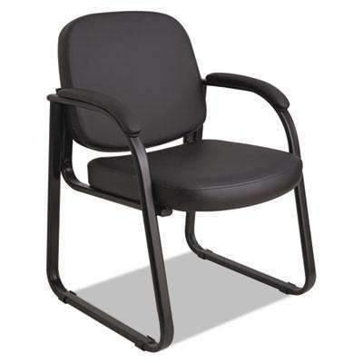 Alera Alera® Genaro Series Sled Base Guest Chair, Black Vinyl - Janitorial Superstore