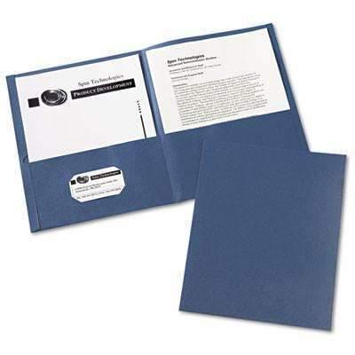 Janitorial Superstore Avery® Two-Pocket Folder, 40-Sheet Capacity, Dark Blue, 25/Box - Janitorial Superstore