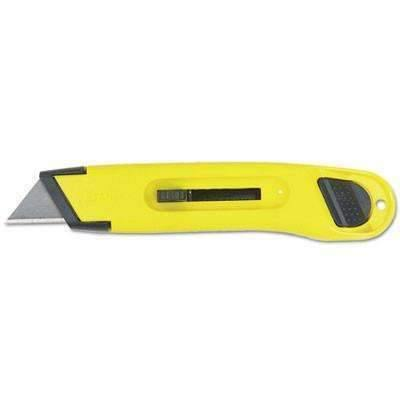 Janitorial SuperstoreStanley® Plastic Light-Duty Utility Knife w/Retractable Blade, Yellow