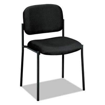 Basyx Basyx® VL606 Series Stacking Armless Guest Chair, Black Fabric - Janitorial Superstore
