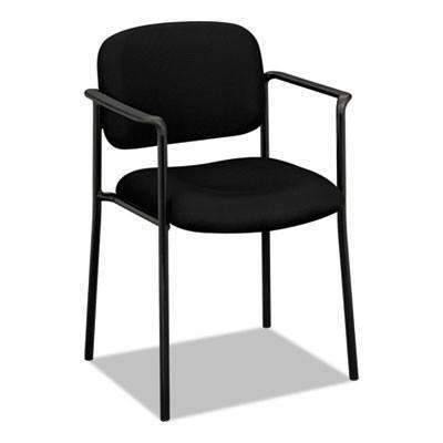 Basyx Basyx® VL616 Series Stacking Guest Chair with Arms, Black Fabric - Janitorial Superstore