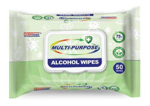 GERMisept Germisept Multi-Purpose Alcohol Wipes, 50ct - Janitorial Superstore
