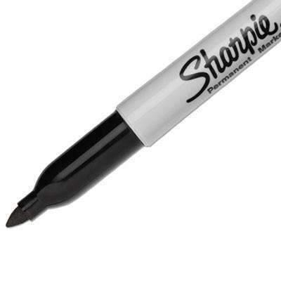 Janitorial Superstore Sharpie® Fine Point Permanent Marker, Black, 12 Pk - Janitorial Superstore