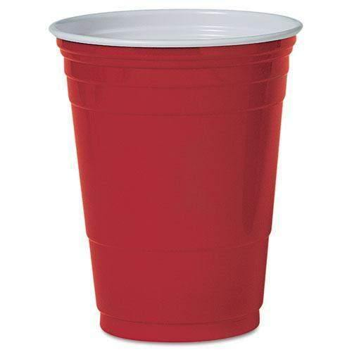 Dart Dart Solo Plastic Party Cold Cups, 16oz, Red, 50/Pack - Janitorial Superstore