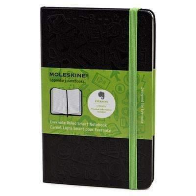Janitorial SuperstoreMoleskine® Ruled Evernote Smart Notebook, 5 1/2 x 3 1/2, Black Cover, 192 Sheets