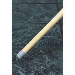 Janitorial Superstore1 X 60 Wood Wet Mop Handle, Female Thread, Bolt Fitting Style