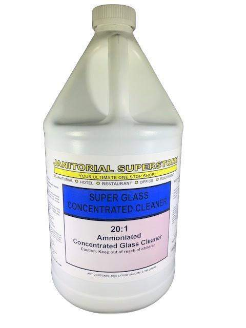 Janitorial Superstore JSS Super 20:1 Glass Cleaner, Ammoniated (Concentrated) - Janitorial Superstore