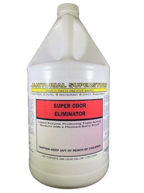 Janitorial Superstore JSS Super Odor Eliminator with Enzymes, Berry Scented (Concentrated) - Janitorial Superstore