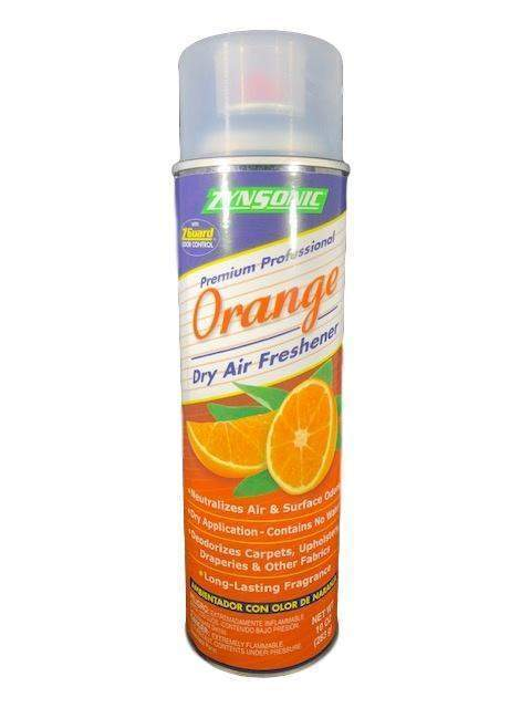 Zynsonic Zynsonic Orange Dry Air Freshener Handheld Spray Can, Odor Eliminator - Janitorial Superstore