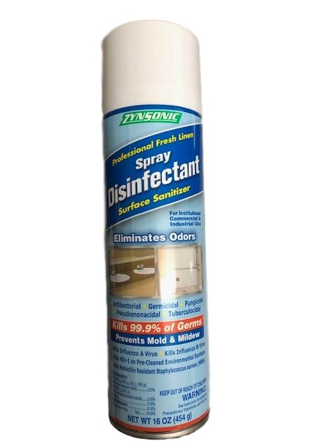 Zynsonic Zynsonic Professional Fresh Linen Disinfectant Spray Can, 16oz - Janitorial Superstore