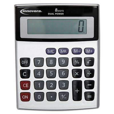 Janitorial SuperstoreInnovera® Portable Minidesk Calculator, 8-Digit LCD