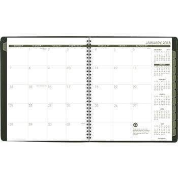 Janitorial SuperstoreAT-A-GLANCE® Recycled Monthly Planner, 9 x 11, Green, 2018