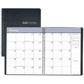 Janitorial Superstore House of Doolittle™ Recycled 24-Month Ruled Monthly Planner, 8 1/2 x 11, Black, 2018-2019 - Janitorial Superstore