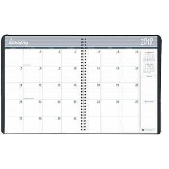 Janitorial Superstore Recycled Ruled Monthly Planner, 14-Month Dec.-Jan., 8 1/2 x 11, Black, 2019-2020 - Janitorial Superstore