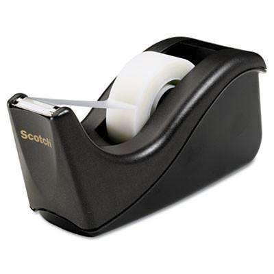 "Janitorial Superstore Scotch® Value Desktop Tape Dispenser, 1"" Core, Two-Tone Black - Janitorial Superstore"