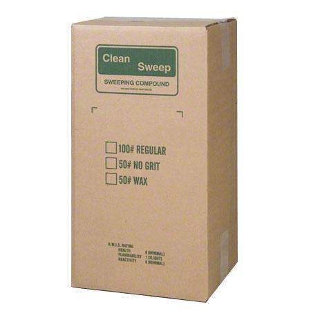 Clean Sweep Clean Sweep S4065 GREEN Wax-Based Sweeping Compound Non-Sanded 50# Box 1 / ea - Janitorial Superstore