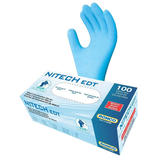 RoncoRonco Nitech EDT Premium Powdered-Free Examination Glove, 5 Mil, Latex-Free