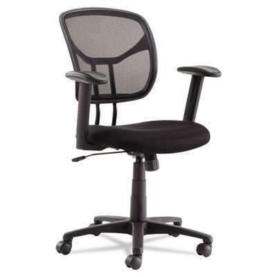 OIF OIF Swivel/Tilt Mesh Task Chair, Height Adjustable T-Bar Arms, Black/Chrome - Janitorial Superstore