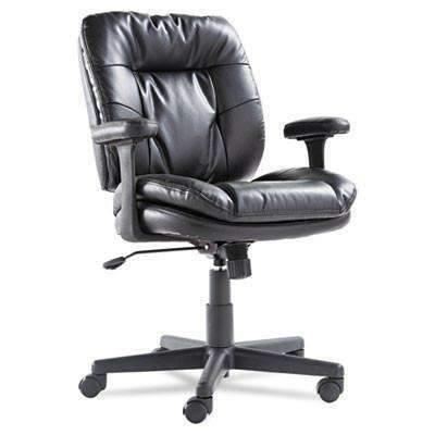OIFOIF Executive Swivel/Tilt Chair, Fixed T-Bar Arms, Black