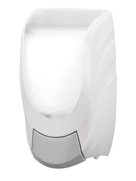 Janitorial Superstore JSS Premium White Manual Hand Soap Dispenser - Janitorial Superstore