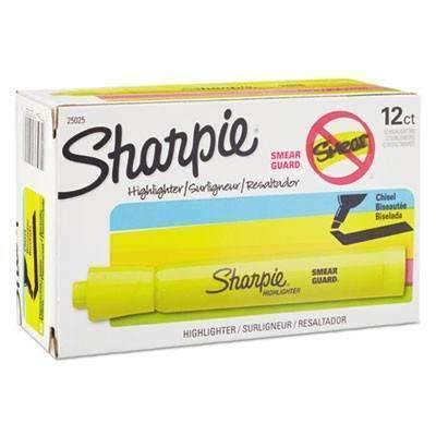 Janitorial SuperstoreSharpie® Accent Tank Style Highlighter, Chisel Tip, Fluorescent Yellow, Dozen