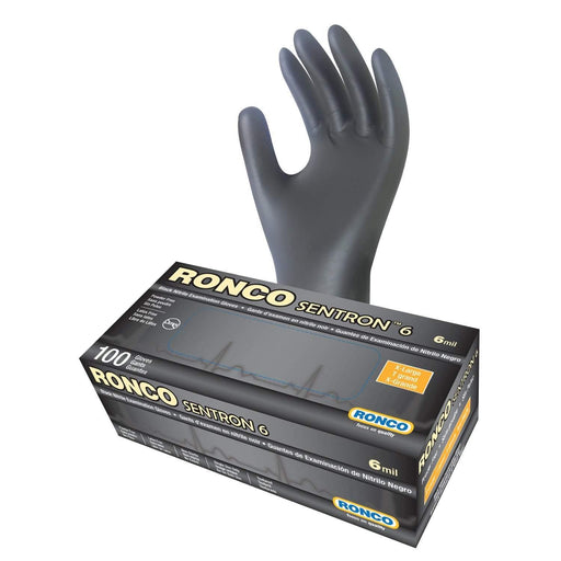 RoncoRonco Sentron 6 Nitrile Powdered-Free Examination Glove, 6 mil