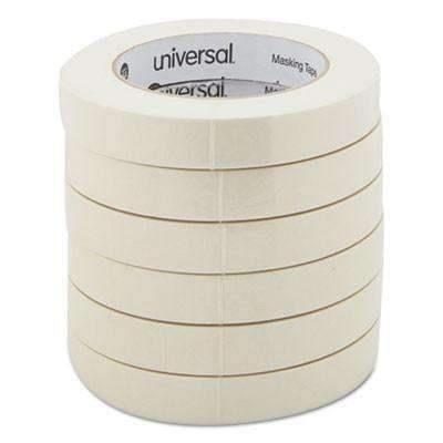 Janitorial SuperstoreUniversal® General Purpose Masking Tape, 18mm x 54.8m, 3 Core, 6/Pack