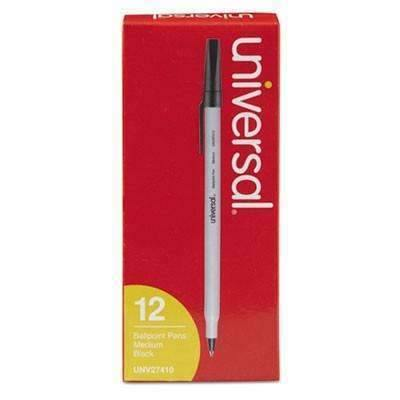 Economy Ballpoint Pen, Black Ink, 12 Pack