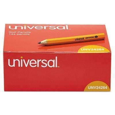 Universal® Golf & Pew Pencil, HB, Yellow Barrel, 144/Box