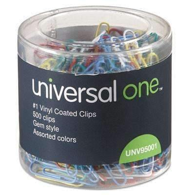 Janitorial Superstore Universal Plastic-Coated Wire Paper Clips 500/Pack - Janitorial Superstore