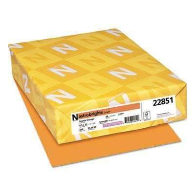 Janitorial SuperstoreAstrobrights® Color Cardstock, 65lb, 8 1/2 x 11, Cosmic Orange, 250 Sheets