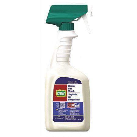 CometComet 02287 Disinfecting Cleaner With Bleach, 32 oz Spray Bottle, 8 Case
